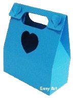 Caixa Maleta Coração - Azul Turquesa