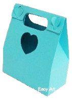 Caixa Maleta Coração - Azul Tiffany