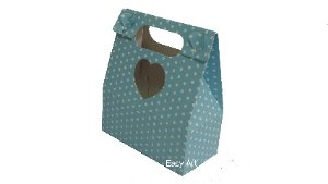 Embalagens para Presentes / Azul com Poás Brancas - 12,5x6x14,5