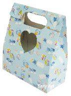 Caixa Maleta Coração - Estampado Bebê Azul