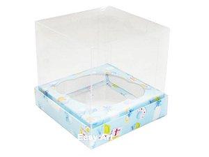 Caixas para Cupcakes - Estampado Bebê Azul