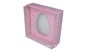 Caixas Ovos de Colher - 100 gramas Rosa Poás Brancas
