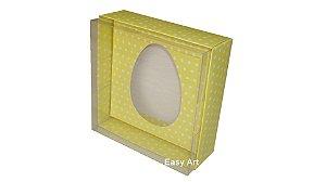 Caixas Ovos de Colher -100 gramas / Amarelo com Poás Brancas