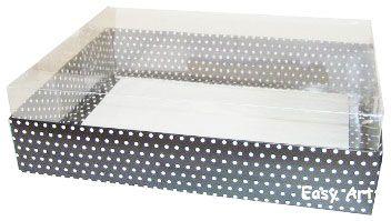 Caixas para Presentes - Preto com Poás Brancas