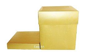 Caixa para Panetones com Berço - Dourado Brilhante