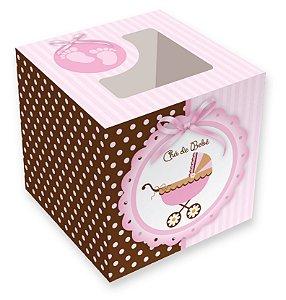 Caixa para cupcakes / Chá de Bebê - 8,5x8,5x8,5