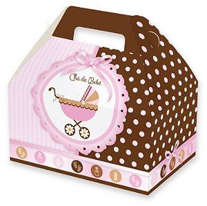 Caixas Maleta para Lembrancinhas / Chá de Bebê Menina - 12x8x6