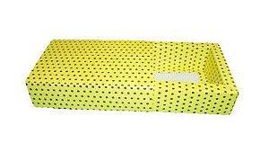 Caixas para 8 Brigadeiros - 20x11,5x4,5 / Amarelo com Poás Marrom