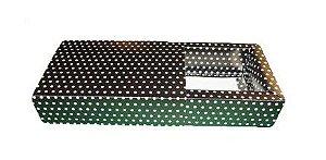 Caixas para 6 Brigadeiros - 16,5x11,5x4,5 / Preto com Poás Brancas