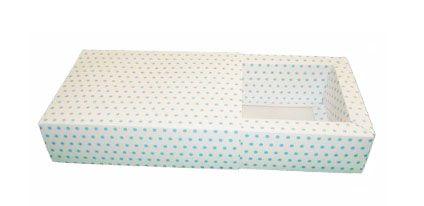 Caixas Brigadeiros Gourmet / Branco com Poás Azuis - 16,5x11,5x4,5
