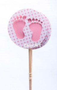 Toppers / Tags para Cupcakes Pacote com 6 unidades  - 5x12