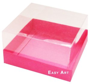 Caixa para Mini Bolos 8x8x6 - Pink