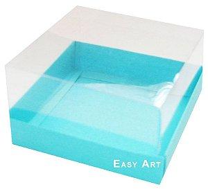 Caixa para Mini Bolos 8x8x6 - Azul Tiffany