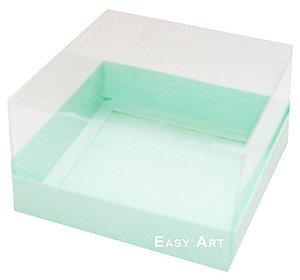 Caixa para Mini Bolos 8x8x6 - Verde Claro
