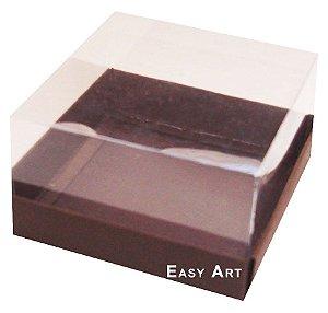 Caixa para Mini Bolos 8x8x6 - Marrom Chocolate