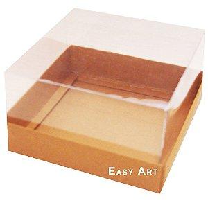 Caixa para Mini Bolos 8x8x6 - Marrom Claro
