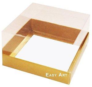 Caixa para Mini Bolos 8x8x6 - Dourado Brilhante