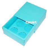 Caixas para 4 Brigadeiros - Azul Tiffany