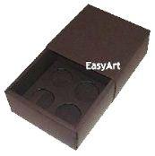 Caixas para 4 Brigadeiros - Marrom Chocolate