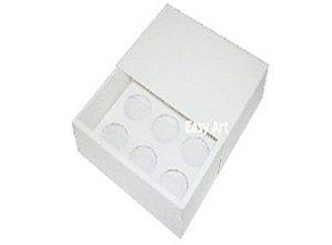 Caixas para 6 brigadeiros - Branco
