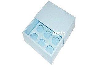 Caixas para 6 Brigadeiros - Azul Claro