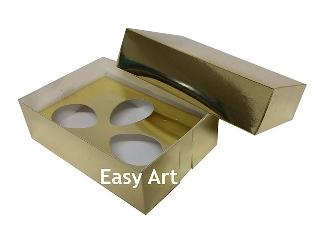 Caixas Ovos de Colher - 3 Ovos de 50 g Cada / Toda Dourada