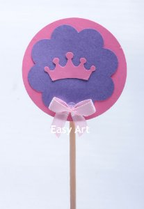 Toppers / Tags para Cupcakes Pacote com 12 unidades