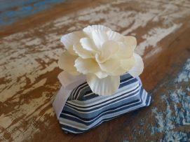 Mini Flores para Bem Casados / Tecido - Beijinho