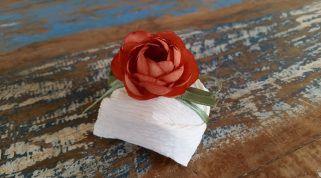Mini Flores para Bem Casados / Tecido - Mini Rosa