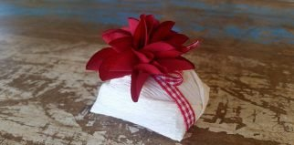 Mini Flores para Bem Casados / Tecido - Flor de Lis