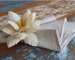 Porta Guardanapos  / Flores de Tecido - Açucena