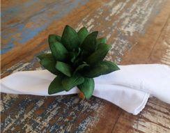 Porta Guardanapos  / Flores de Tecido - Flor de Lótus - Pct com 24 Unidades