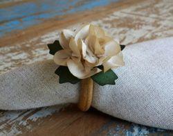 Porta Guardanapos  / Flores de Tecido - Mini Dália - Pct com 24 Unidades