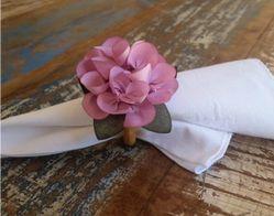 Porta Guardanapos  / Flores de Tecido - Dália