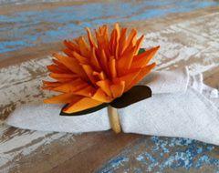 Porta Guardanapos  / Flores de Tecido - Bromélia - Pct com 24 Unidades