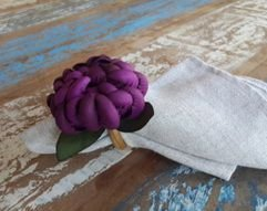 Porta Guardanapos / Flores de Tecido - Flor de Cactus - Pct com 24 Unidades