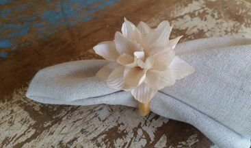 Porta Guardanapos / Flores de Tecido - Suculenta - Pct com 24 Unidades