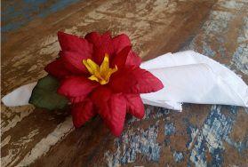 Porta Guardanapos  / Flores de Tecido - Bico de Papagaio