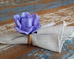 Porta Guardanapos  / Flores de Tecido - Beladona
