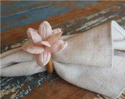 Porta Guardanapos  / Flores de Tecido - Iris - Pct com 24 Unidades