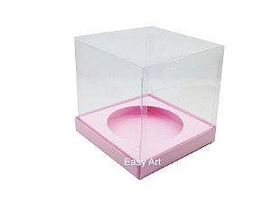 Caixa para Mini Panetones - Rosa Claro