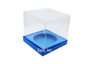 Caixa para Mini Panetones - Azul Turquesa