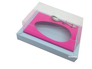 Caixa para Ovos de Colher 250g Azul Claro / Pink