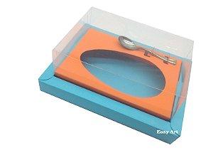 Caixa para Ovos de Colher 250g Azul Tiffany / Laranja Escuro