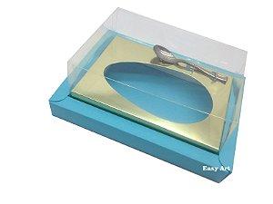 Caixa para Ovos de Colher 250g Azul Tiffany / Dourado