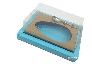 Caixa para Ovos de Colher 250g Azul Tiffany / Marrom Claro