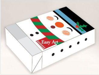 Caixa para 6 Brigadeiros - Boneco de Neve