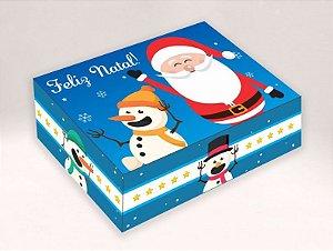 Caixa Noel e Boneco de Neve - 06 Brigadeiros