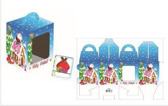 Caixa Mini Panetone / Cupcakes Casa de Doces