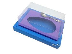 Caixa para Ovos de Colher 250g Azul Turquesa / Lilás